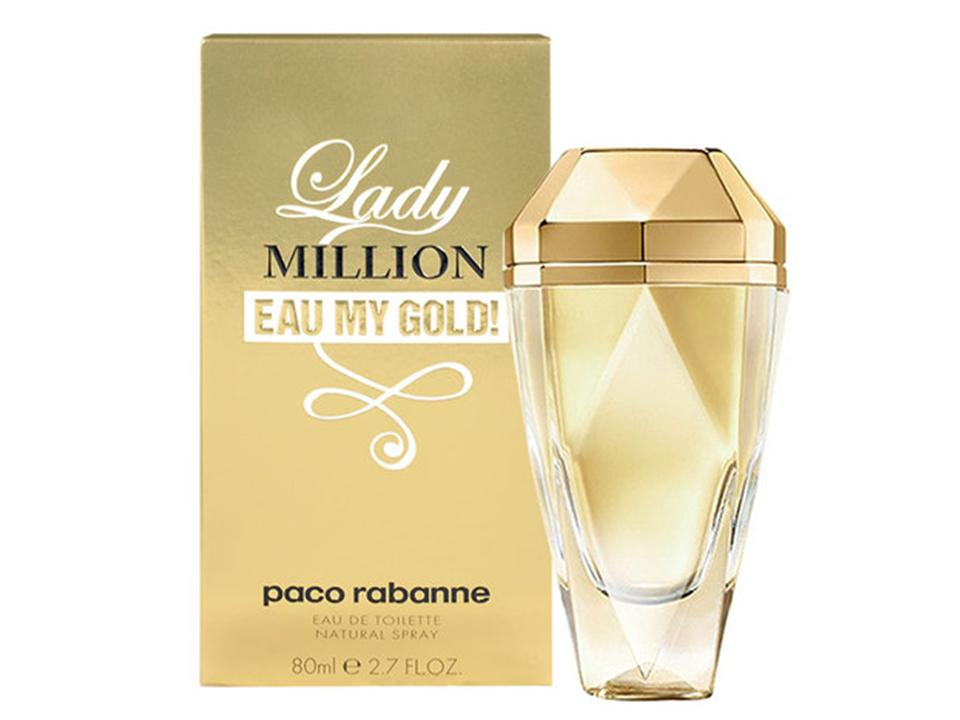 Lady Million Eau My Gold! by Paco Rabanne EDT NO BOX 80 ML.